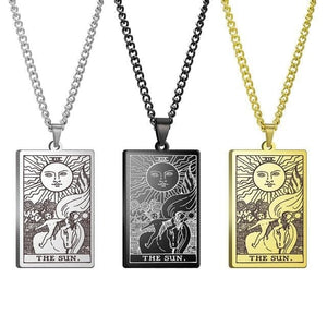 mermaid-vemon,Tarot Card Pendant Necklace.