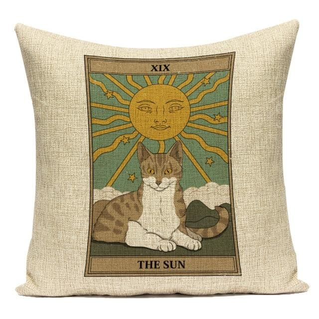 mermaid-vemon,Tarot Cat Card Cushion Cover.
