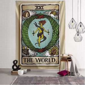 mermaid-vemon,Tarot Deck Tapestry.
