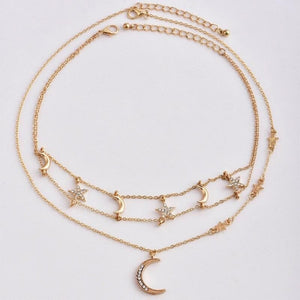 mermaid-vemon,To The Moon & Stars Choker Necklace.