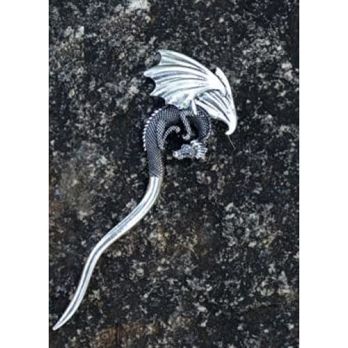 mermaid-vemon,Vintage Hair Pins Crescent Moon Snake Sword Skull Witch.