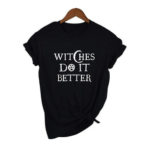 mermaid-vemon,Witches Do It Better Black Tee.