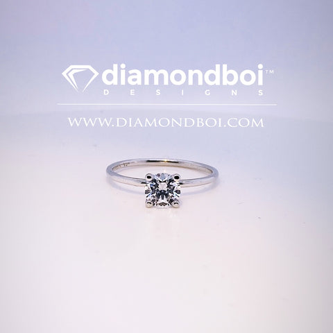 1.00ct/1.50ct/2.00ct Round Cut, 4-Prong -1.50MM Tube Classic Solitaire Ice Moissanite by diamondboi-TDSMoiss