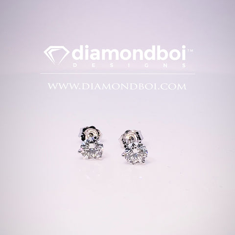 1.00ct Total Weight Ice Moissanite by diamondboi Studs Earrings -TDSEar TDSMoiss