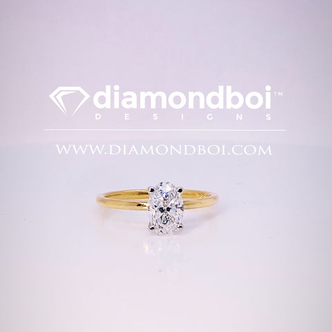1.00ct/1.50ct/2.00ct Oval Cut, 4-Prong -1.75MM Tube Classic Solitaire Ice Moissanite by diamondboi-TDSMoiss