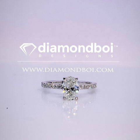 1.20ct/1.70ct TW Ice Moissanite by diamondboi-Oval Cut, Classic Italian Pave-TDSMoiss