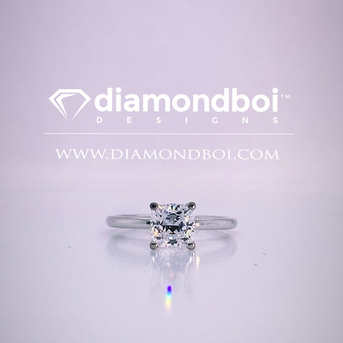 1.00ct/1.50ct/2.00ct-1.75MM Tube Classic Solitaire-Cushion- Ice Moissanite by diamondboi-TDSMoiss