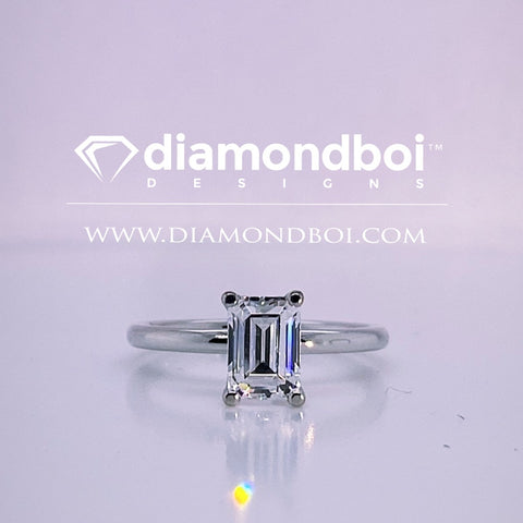 1.00ct/1.50ct/2.00ct-1.75MM Tube Classic Solitaire- Emerald Ice Moissanite by diamondboi- TDSMoiss