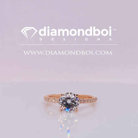 1.20ct / 1.70ct TW Ice Moissanite by diamondboi-  Round Cut, Classic Italian Pave-TDSMoiss