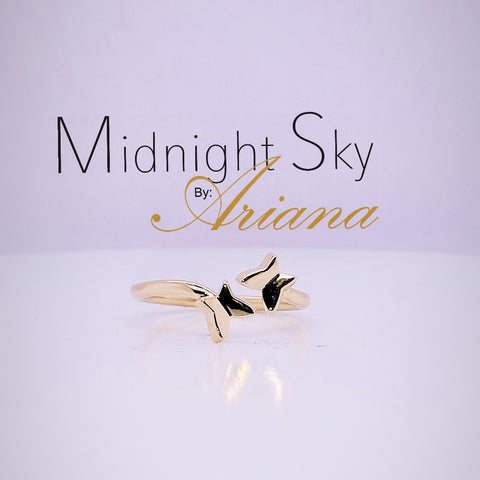Midnight Sky by Ariana:  Freedom - 14KT Butterfly Ring