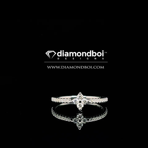 .32ct diamondboi Flower Shape Friendship Ring
