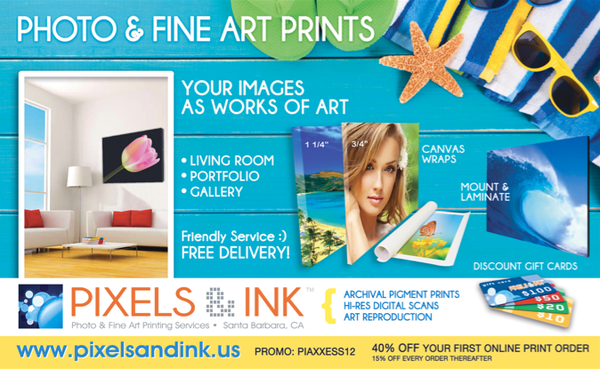 Pixels and Ink and Santa Barbara Axxess Catalog