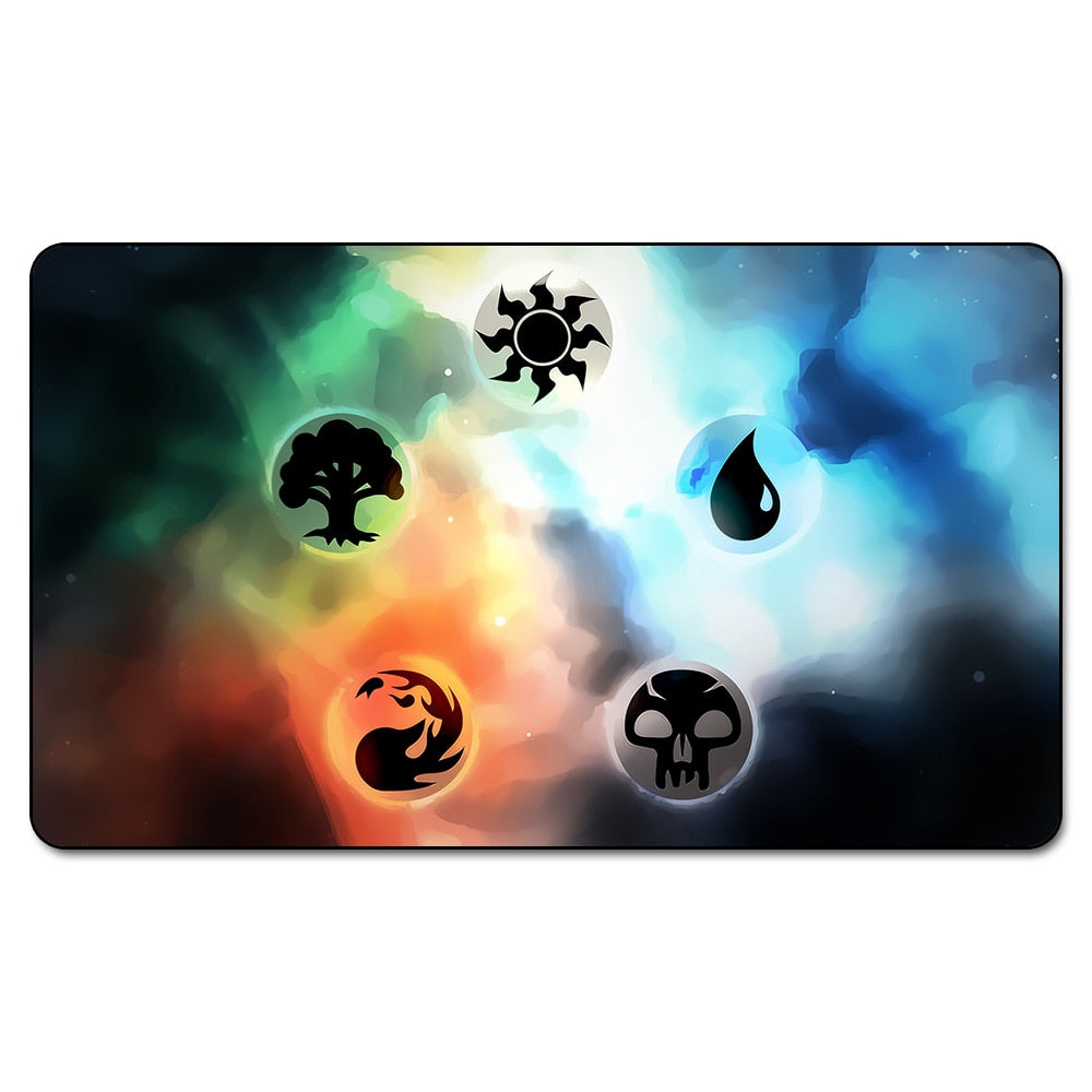 Many Choice Magic Card Games Custom Playmat MGT Mana Symbols Playmat, Board Games Ultra. Table Pad Pro with Free Bag - TCG Dealer