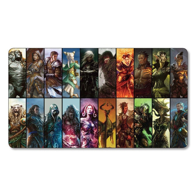 All Planeswalkers the Gathering Magical board game cards mgt Playmat tcg ccg Cards Game Play Mat Lil pad large mouse pad - TCG Dealer