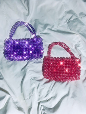 Mini Beaded Glass Hand Bag