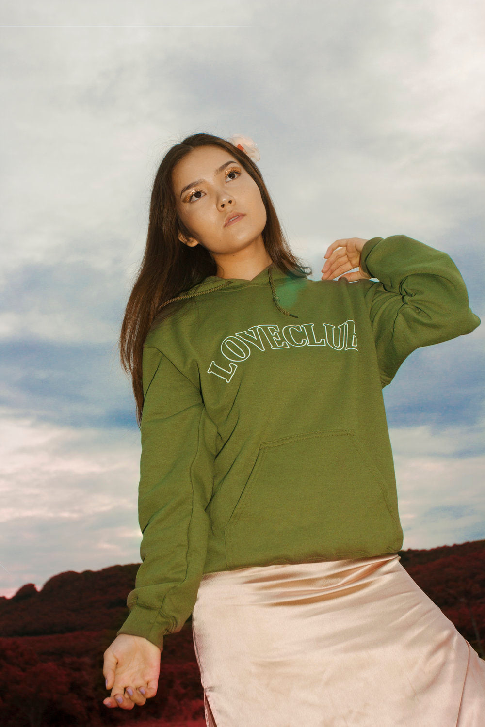 Sweet Deadly Hoodies (military green)