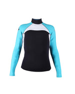 NO LIMIT + MAKE UNISEX WETSUIT JACKET BLACK/AQUA/WHITE