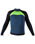 NO LIMIT + MAKE UNISEX WETSUIT JACKET NEON GREEN/CHARCOAL/PETROL