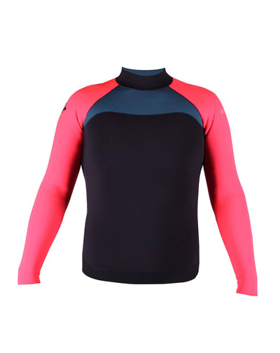 NO LIMIT + MAKE UNISEX WETSUIT JACKET PINK/CHARCOAL/PETROL