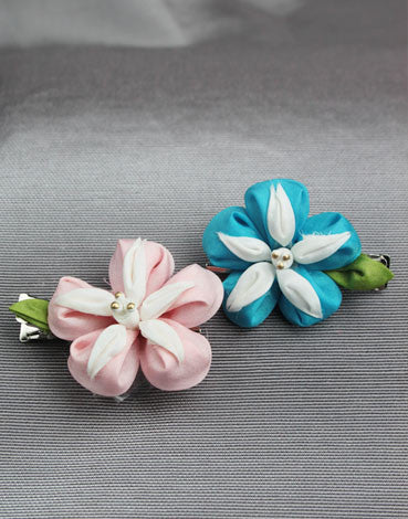 Morning Glory Barrettes