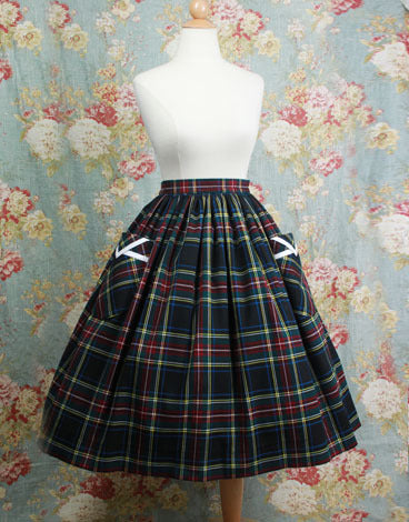 Plaid Bouffant Skirt