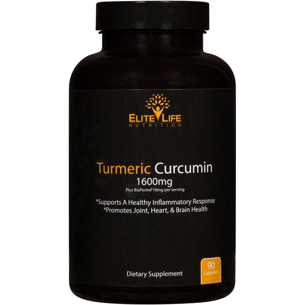 Pure Turmeric Curcumin 1600mg with Bioperine 10mg and 95% Curcuminoids