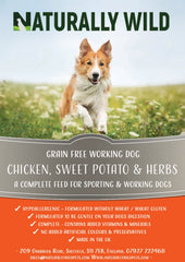 Grain Free Chicken, Sweet Potato and Herbs Working Dog Complete Food - 15kg
