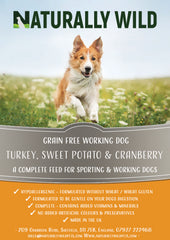 Grain Free Turkey, Sweet Potato and Cranberry Working Dog Complete Food - 15kg
