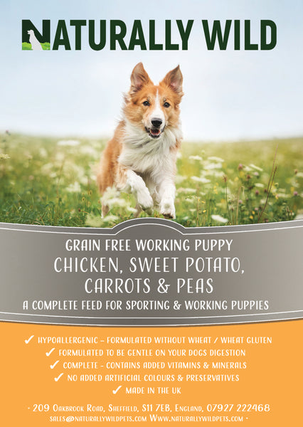 Grain Free Puppy - Chicken, Sweet Potato, Carrots and Peas Working Dog Complete Food - 15kg