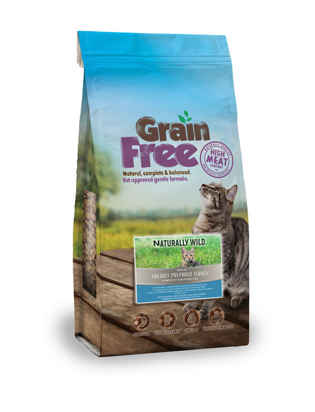 Grain Free Freshly Prepared Turkey for Cats - 2kg or 7.5kg