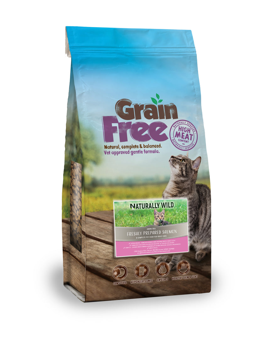 Grain Free Freshly Prepared Salmon for Cats - 2kg or 7.5kg
