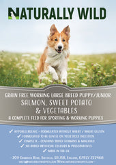 Large Breed Puppy/Junior -  Salmon, Sweet Potato and Vegetables Working Dog Complete - 15kg