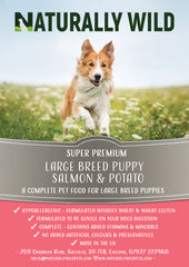 Super Premium Large Breed Puppy Salmon & Potato Complete Food