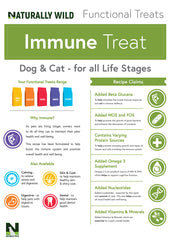 Immune Functional Treats for your cat or dog: 70g