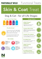 Skin & Coat Functional Treats for your cat or dog: 70g