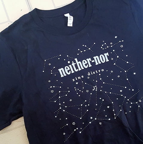 Neither/nor T-Shirt (glow in the dark ink!)