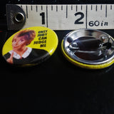 "Judge Judy 1.25"" pin back button"