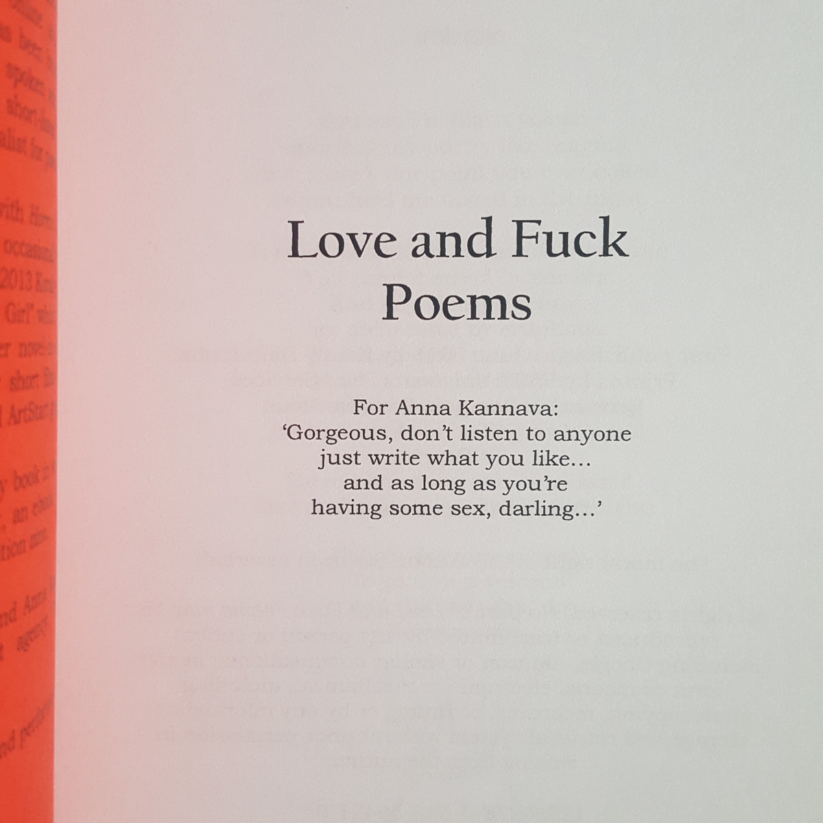 Love and Fuck Poems