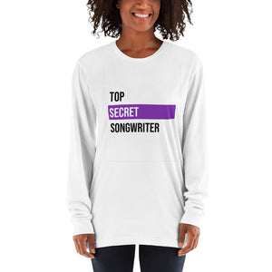 Top Secret Songwriter (Purple) Long sleeve t-shirt