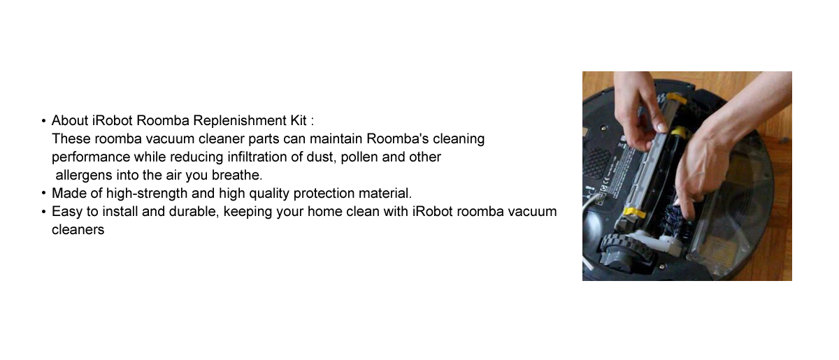Roomba Replenishment Kits, 10 Packs Brush Accessories Parts Compatible with  iRobot Roomba 650 652 690 770 780 790 Vacuum Cleaner (600&700 Series)