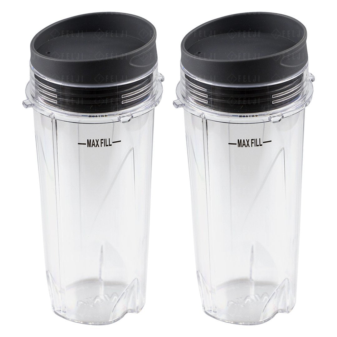 Wondrous 2 Nutri Ninja 16 Oz Cups With To Go Lids Replacement Model Home Interior And Landscaping Mentranervesignezvosmurscom