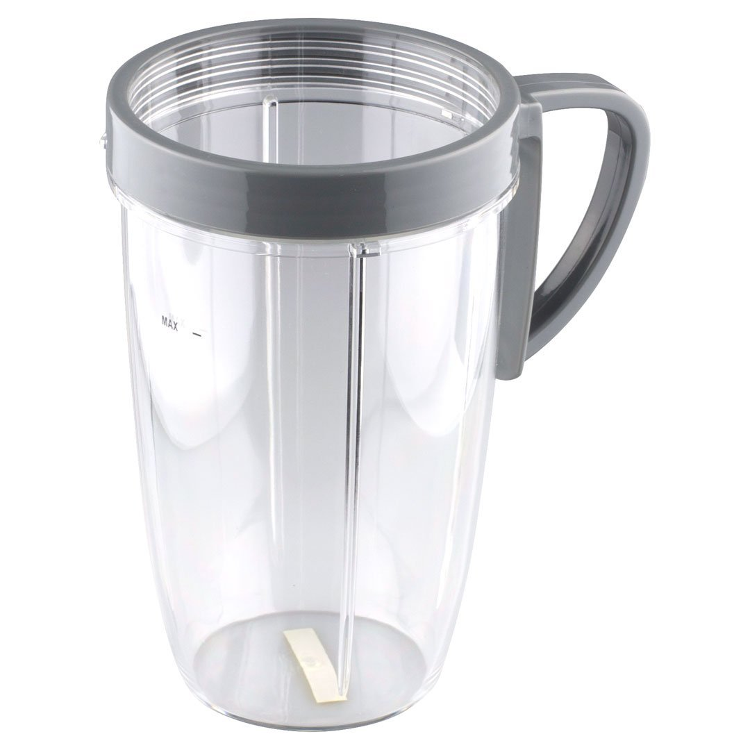 24oz Tall Cup Mug with Grey Flip Top To-Go Lid for Nutribullet 2 Pack