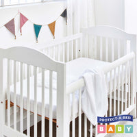 Cotton Terry Fitted Cot Protector | Sleep Corp Healthcare