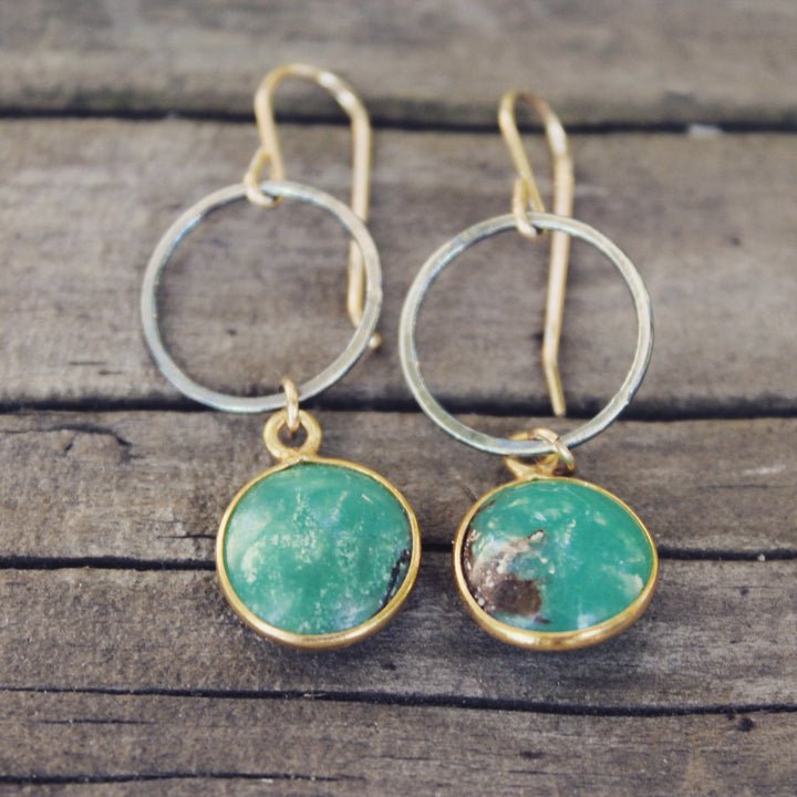 Chrysoprase New Love Hoop Earrings