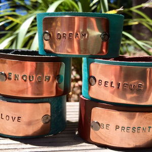 The Inspiration Cuff | Turquoise Blue Design Co.
