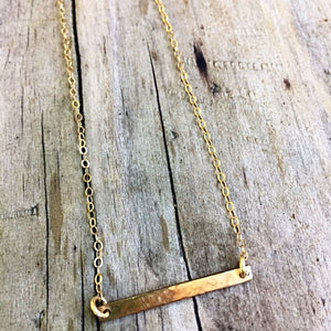 The Simple Bar Necklace | Turquoise Blue Design Co.