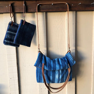 Indigo Dreams Convertible Market Crossbody Bag | Turquoise Blue Design Co.