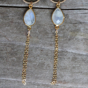 Gemstone Drops with Chain Tassel