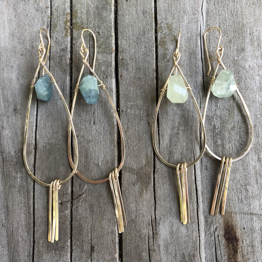 The Aquamarine Tassel Earrings | Turquoise Blue Design Co.