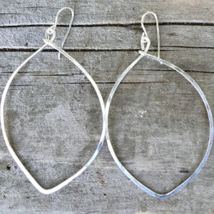 Large Leaf Hoop Earrings | Turquoise Blue Design Co.